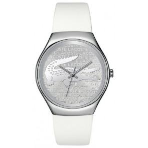 Lacoste correa de reloj 2000785 / LC-71-3-14-2444 Silicona Blanco 18mm