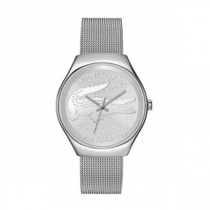 Lacoste correa de reloj 2000810 / LC-71-3-14-2469 Metal Plateado 18mm