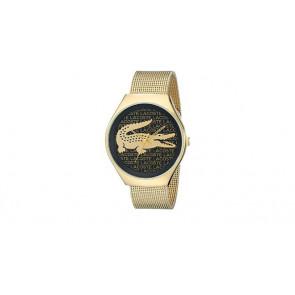 Lacoste correa de reloj 2000873 / LC-71-3-34-2470 Metal Chapado en oro 18mm