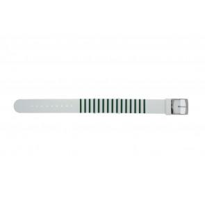 Lacoste correa de reloj 2000892 / LC-84-3-14-2596 Silicona Verde 18mm
