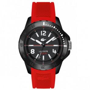Lacoste correa de reloj LC-75-1-29-2467 / 2010737 / 22mm Caucho Rojo 22mm