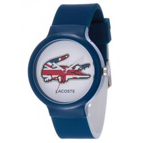 Lacoste correa de reloj LC-46-4-47-2502 / 2020072 / 20mm Caucho Azul  14mm