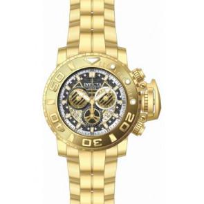 Correa de reloj Invicta 22132.01 Acero Chapado en oro 30mm
