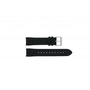 Hugo Boss correa de reloj HB-232-1-27-2731 / HB1513087 Cuero Negro 22mm + costura negro
