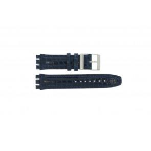 Correa de reloj Swatch 247.11M Cuero Azul 20mm