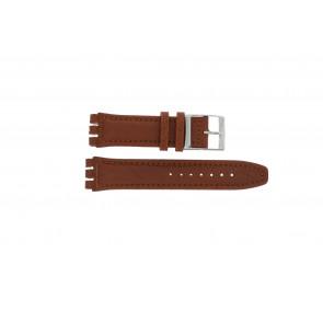 Correa de reloj Swatch 247.02PL Cuero Marrón 20mm