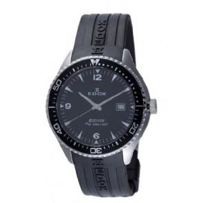 Correa de reloj Edox 267961 / 70158 Caucho Negro 22mm