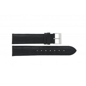 Correa de reloj Edox 27028-2 Cuero Negro 19mm