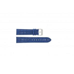 Cuero genuino croc azul 24mm PVK-285