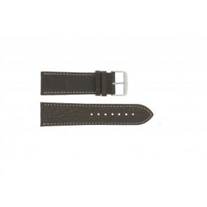 Correa de reloj 307.02 Cuero Marrón 18mm + costura blanca