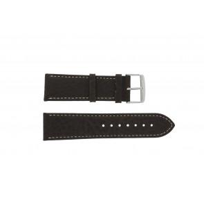 Correa de reloj 307.02 XL Cuero Marrón 24mm + costura blanca