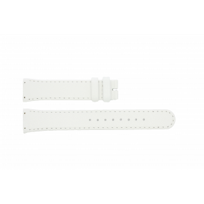Boccia correa de reloj BO3186-01-40W Cuero Blanco 19mm + costura predeterminada