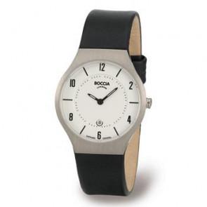 Correa de reloj Boccia 3193-01 (BO811 X367S16) Cuero Negro 15mm