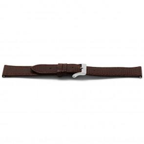Correa de reloj Universal E333 Lizard Slimline Cuero Marrón 16mm