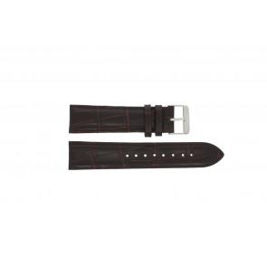 Prisma correa de reloj 33C631012 Cuero Marrón 22mm + costura marrón