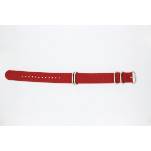 Correa de reloj 409.06.20 Textil Rojo 20mm