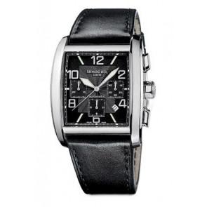 Raymond Weil correa de reloj SI2801-4876-1 Cuero Negro 28mm + costura negro