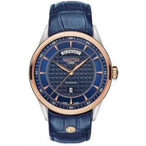 Correa de reloj Roamer 508293.49.45.05 Cuero Azul