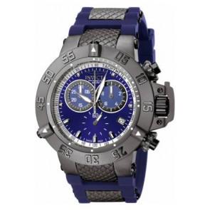 Correa de reloj Invicta 5509.01 Acero/Silicona Azul