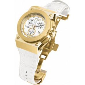 Correa de reloj Invicta 5574.01 Cuero Blanco