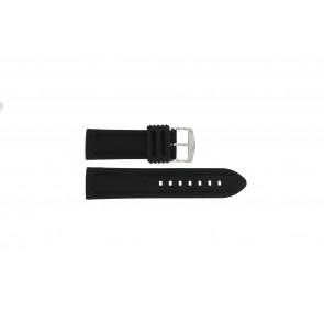 Correa de reloj 5809.22 Silicona Negro 22mm