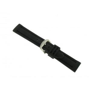 Correa de reloj Universal SL105 Silicona Negro 20mm