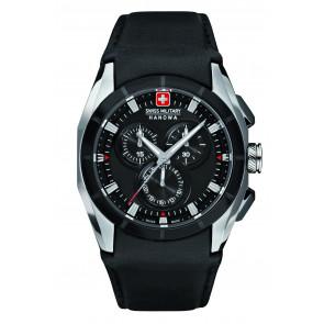 Correa de reloj Swiss Military Hanowa 6-4191.33.007 Cuero Negro 24mm