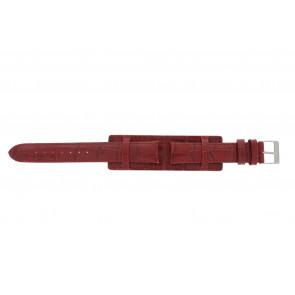 Correa de reloj 61325.45.16 Cuero Rojo 16mm + costura roja