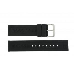 Hugo Boss correa de reloj 659302252 / HB.116.1.29.2267 / 1512543 Caucho Negro 22mm