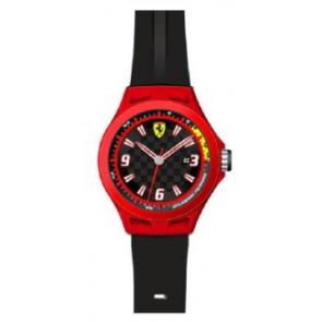 Correa de reloj Ferrari SF-01-1-47-0005 / 689300004 Silicona Negro