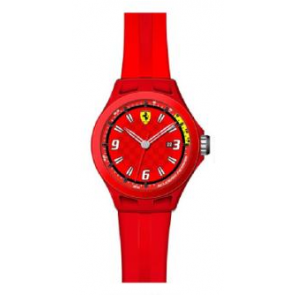 Correa de reloj Ferrari SF-01-1-47-0005 / 689300005 Silicona Rojo