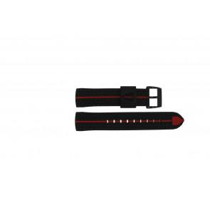 Ferrari correa de reloj 689300022 / SF689300022 / Scuderia Caucho Negro 22mm