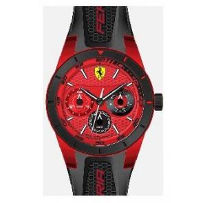 Correa de reloj Ferrari SF-28-1-44-0189 / 689300186 Silicona Negro