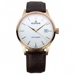 Correa de reloj Edox 70162 / 493467 Cuero Marrón oscuro 20mm