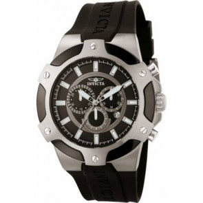 Correa de reloj Invicta 7342-SIGNATURE-II Caucho Negro 21mm