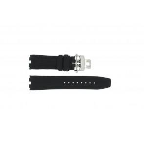 Correa de reloj Roamer 750837 Caucho Negro