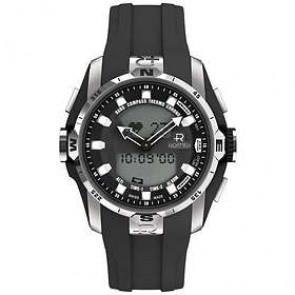Correa de reloj Roamer 770990-41-55-07 Caucho Negro