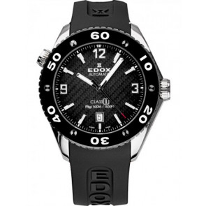 Correa de reloj Edox 80061 Silicona Negro 22mm