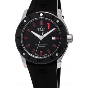 Correa de reloj Edox 80088 Caucho Negro