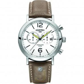 Correa de reloj Roamer 93595-41-24-09 Cuero Marrón