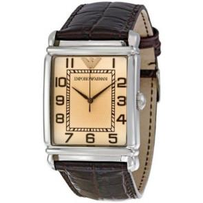 Correa de reloj Armani AR0490 Cuero Marrón