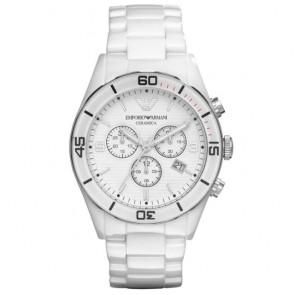 Correa de reloj Armani AR1424 Cerámica Blanco