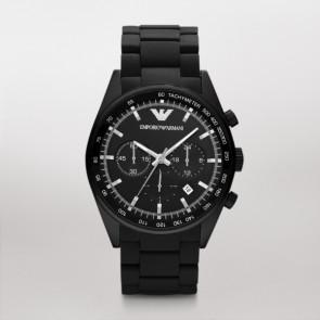 Correa de reloj Armani AR5981 Acero/Silicona Negro