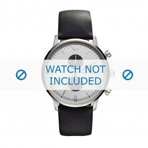 Correa de reloj Armani AR0385 Cuero Negro 22mm