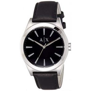 Correa de reloj Armani Exchange AX2323 Cuero Negro 22mm