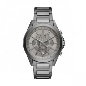Correa de reloj Armani Exchange AX2603 Acero Gris antracita 22mm