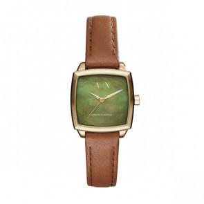 Correa de reloj Armani Exchange AX5451 Cuero Cognac 16mm