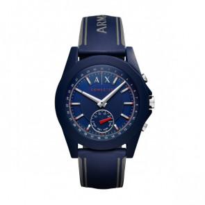 Correa de reloj Armani Exchange AXT1002 Caucho Azul 22mm