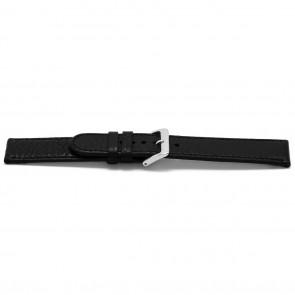 Correa de reloj B113Z Cuero Negro 10mm + costura negro