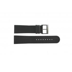 Correa de reloj Mondaine BM20054-W Cuero Negro 22mm